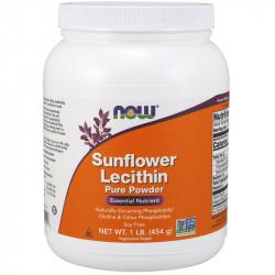 NOW Sunflower Lecithin Pure Powder 454g