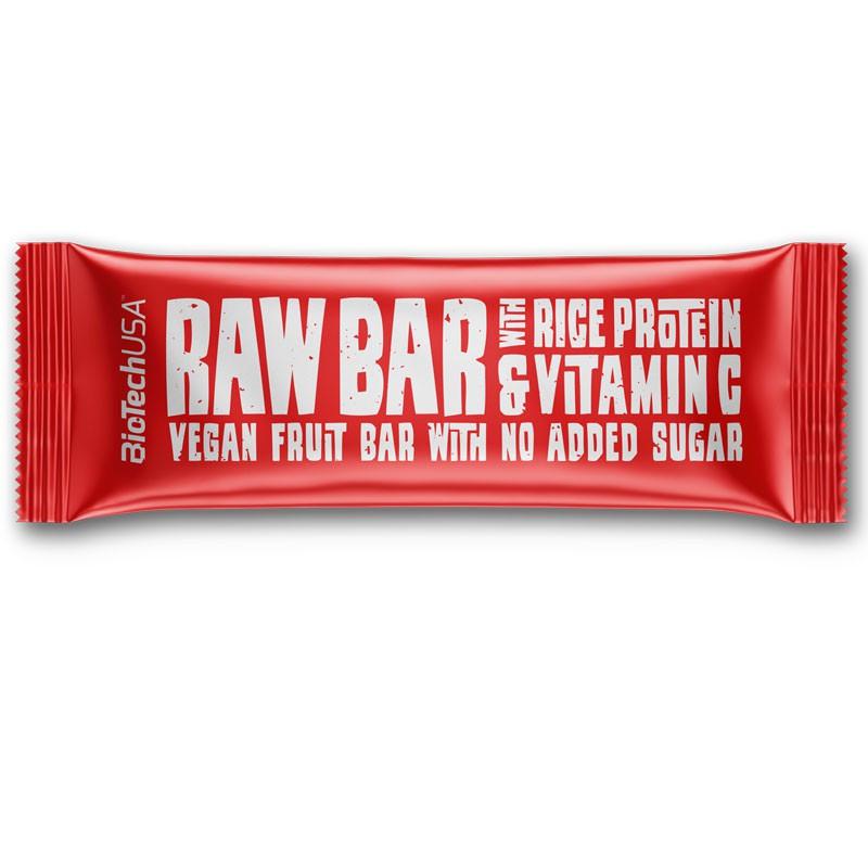 Biotech USA Raw Bar With Rice Protein&Vitamin C 40g BATON ENERGETYCZNY