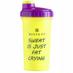 OLIMP Shaker Queen Fit Sweat Is Just Fat Crying Yellow 700ml