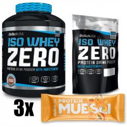 Biotech USA Iso Whey Zero 2270g + 500g +Biotech USA Protein Muesli Bar 30g GRATIS!!!
