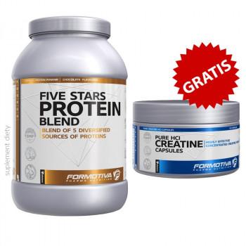 FORMOTIVA Five Stars Protein Blend 1000g + FORMOTIVA Pure Hcl Creatine Capsules 120caps GRATIS!!!