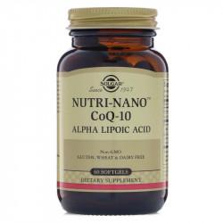 SOLGAR Nutri-Nano CoQ-10 Alpha Lipoic Acid 60caps