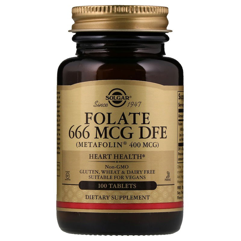 SOLGAR Folate 666mcg DFE 100tabs