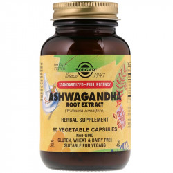 SOLGAR Ashwagandha Root Extract 60vegcaps