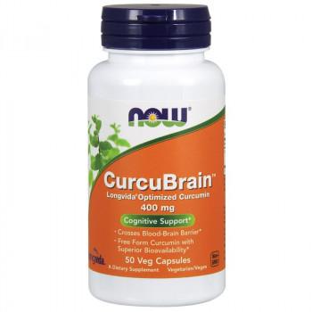 NOW CurcuBrain Longvida Optimized Curcumin 400mg 50vegcaps