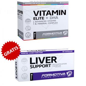 FORMOTIVA Vitamin Elite + DHA 90caps + FORMOTIVA Liver Support 60caps GRATIS!