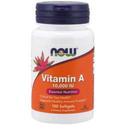 NOW Vitamin A 10,000 IU From Fish Liver Oil 100caps