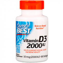 DOCTOR'S BEST Best Vitamin D-3 1000 IU 180caps