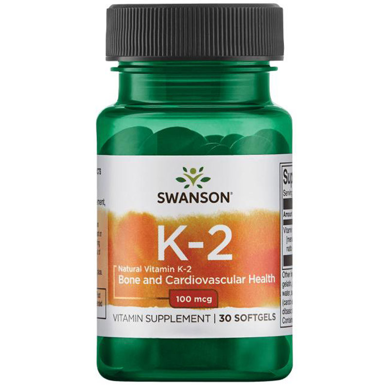 SWANSON Natural Vitamin K2 100mcg 30caps