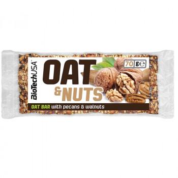 Biotech USA Oat&Nuts 70g PRZEKASKA OWSIANA