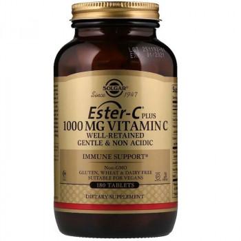 SOLGAR Ester-C Plus 1000mg Vitamin C 180tabs