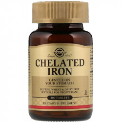 SOLGAR Chelated Iron 100tabs