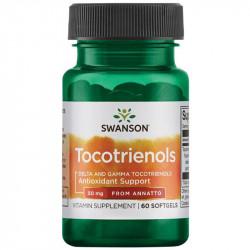 SWANSON Tocotrienols Delta And Gamma Tocotrienols From Annatto 50mg 60caps