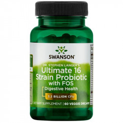 SWANSON Ultimate 16 Strain Probiotic With Fos 60vegcaps