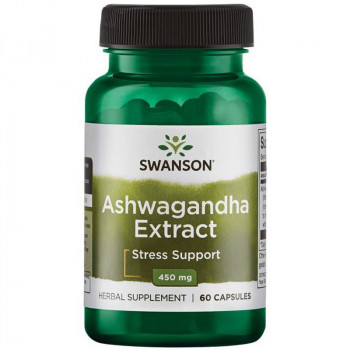 SWANSON Ashwagandha Extract 450mg 60caps