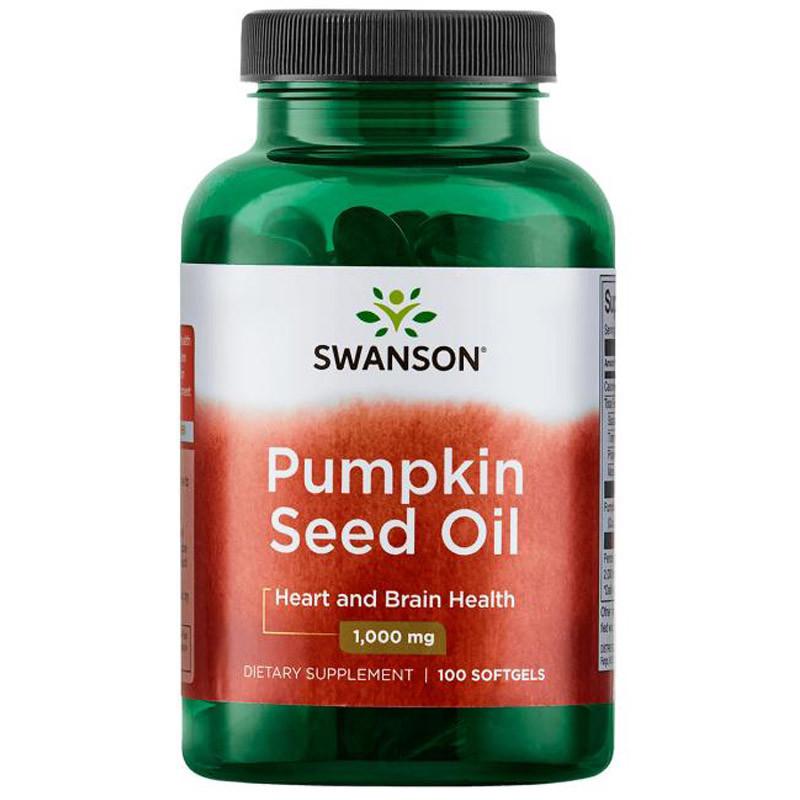 SWANSON Pumpkin Seed Oil 1,000mg 100caps