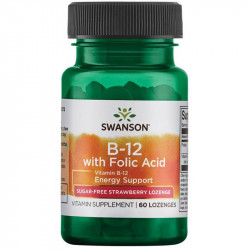 SWANSON Vitamin B-12 With Folic Acid 60tabs