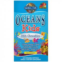 GARDEN OF LIFE Oceans Kids DHA Chewables 120chewablecaps