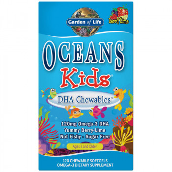 GARDEN OF LIFE Oceans Kids DHA Chewables 120chewablecaps