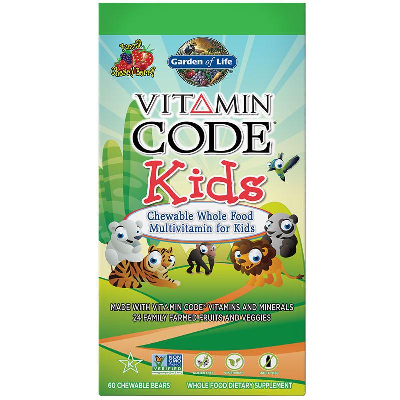 GARDEN OF LIFE Vitamin Code Kids 60chewablebears