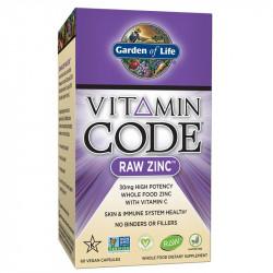 GARDEN OF LIFE Vitamin Code Raw Zinc 60vegcaps