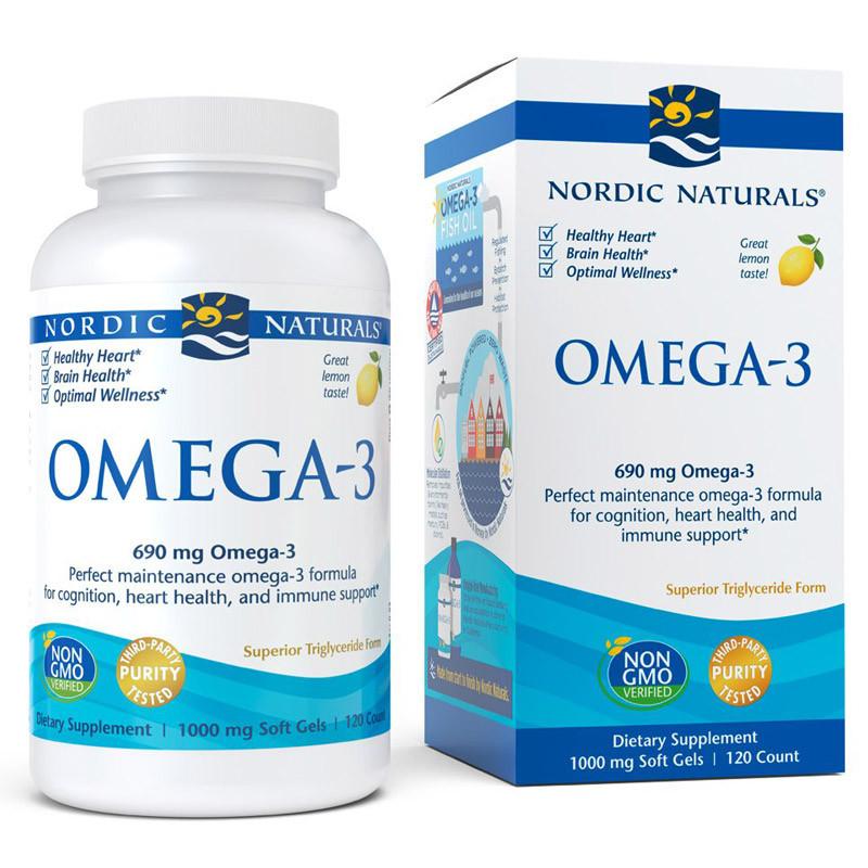 NORDIC NATURALS Omega-3 120caps