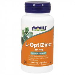 NOW L-OptiZinc 30mg 100vegcaps