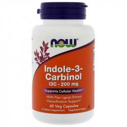NOW Indole-3-Carbinol I3C-200mg 60vegcaps