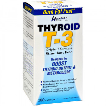 ABSOLUTE NUTITION Thyroid T-3 180caps