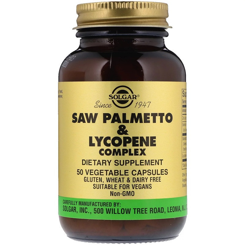 SOLGAR Saw Palmetto&Lycopene Complex 50vegcaps