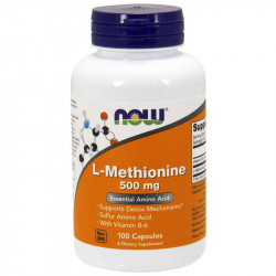 NOW L-Methionine 500mg 100caps