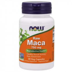 NOW Raw Maca 750mg 30vegcaps