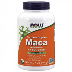 NOW Certified Organic Maca Pure Powder 6:1 Concentrate 198g
