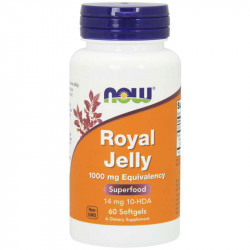 NOW Royal Jelly 1000mg Equivalency 60caps
