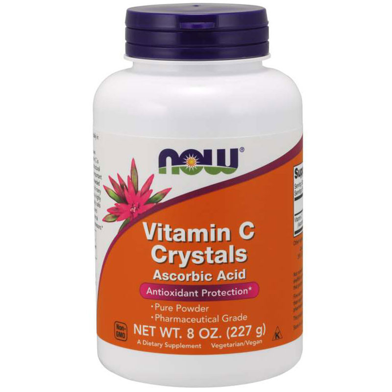 NOW Vitamin C Crystals Ascorbic Acid 227g