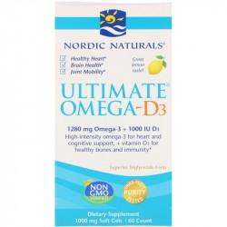 NORDIC NATURALS Ultimate Omega-D3 60caps