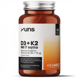 UNS D3+K2 Mk-7 Natto 60vegcaps