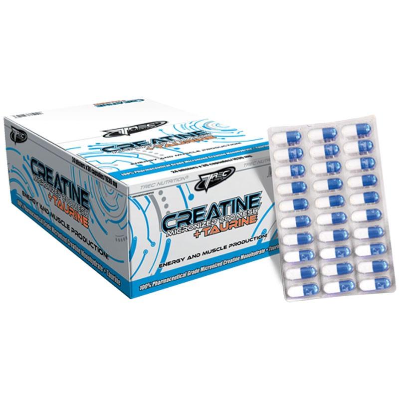 TREC Creatine Micronized 200 Mesh + Taurine - 30 caps