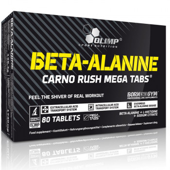 OLIMP Beta-Alanine Carno Rush Mega Tabs 80tabs