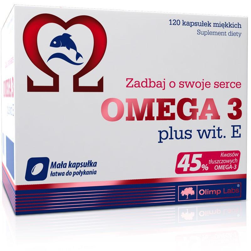 Olimp Omega 3 Plus vit E 120 caps