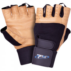 TREC Rękawice Treningowe Profi Brown Gloves Black