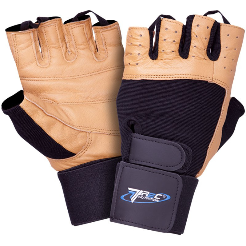 TREC Rękawice Treningowe Profi Brown Gloves Black-Brown