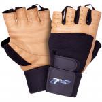 TREC Rękawice Treningowe Profi Brown Gloves Black-Brown