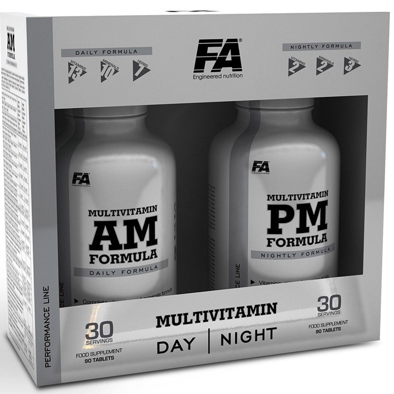 FA Nutrition MultiVitamin AM + PM Formula 180caps