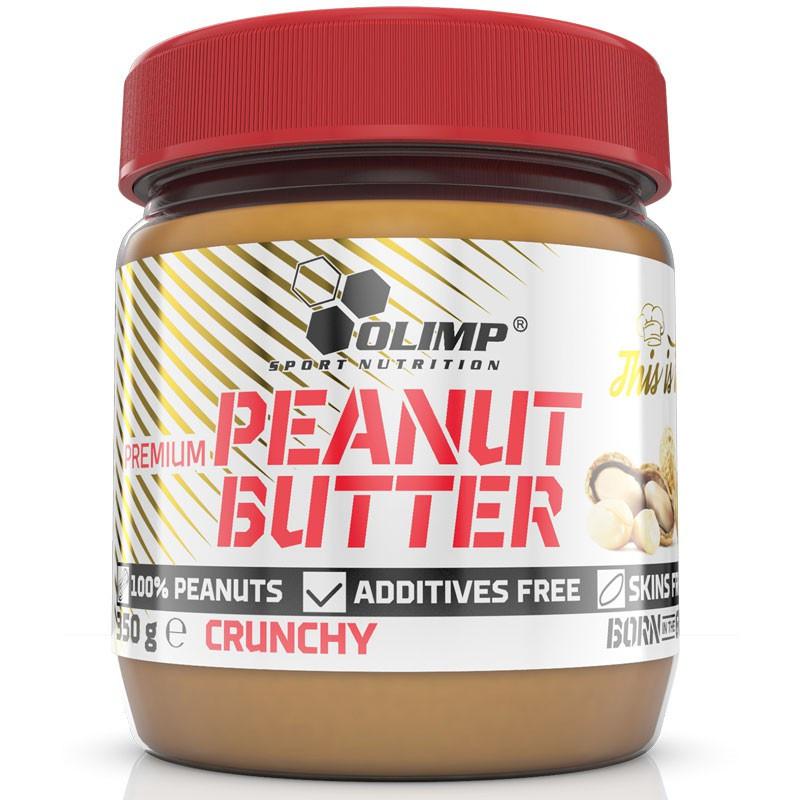 OLIMP Premium Peanut Butter Crunchy 350g MASŁO ORZECHOWE