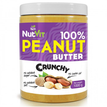 NutVit 100% Peanut Butter Crunchy 1000g MASŁO ORZECHOWE