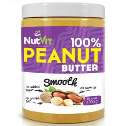 NutVit 100% Peanut Butter Smooth 1000g MASŁO ORZECHOWE