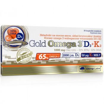 OLIMP Gold Omega 3 D3+K2 30caps