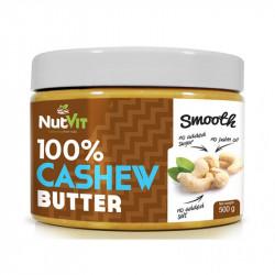 NutVit 100% Cashew Butter Smooth 500g MASŁO Z ORZECHÓW NERKOWCA