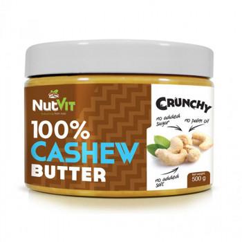 NutVit 100% Cashew Butter Crunchy 500g MASŁO Z ORZECHÓW NERKOWCA